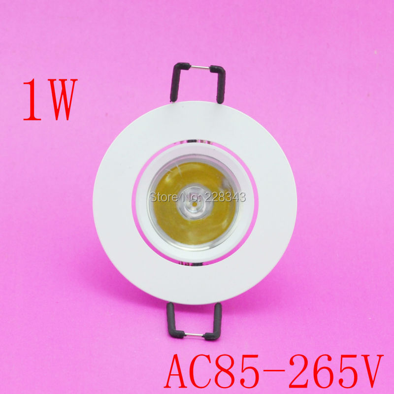 5pcs lot 1W LED ceiling light lamp Spot AC85V 265V 110V 220V for home illumination Free