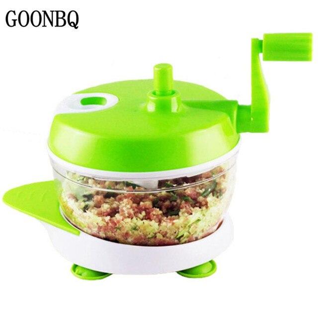 goonbq 1 pc multifunction manual vegetable slicer plastic meat grinder ginger garlic grinding grater kitchen cooking
