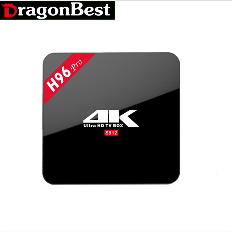 H96 Pro TV Box Amlogic S912 64bit Amlogic 8 Core Android 6.0 ARM Cortex-A53 2GB/16GB WiFi Bt4.0 2.4G/5.8G H.265 4K Media Player