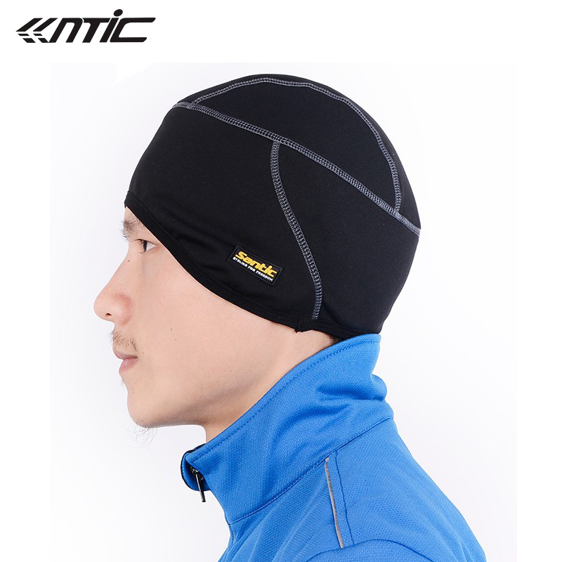 SANTIC Fleece Thermal Winter Outdoor Sports Hiking Skiing Hat Bike Bicycle Cycling Helmet Headband Liner Windproof Cap C09005 winter outdoor sports knitted ski hat cycling cap hiking riding hat windproof thermal fleece warm earmuffs snow cap men women