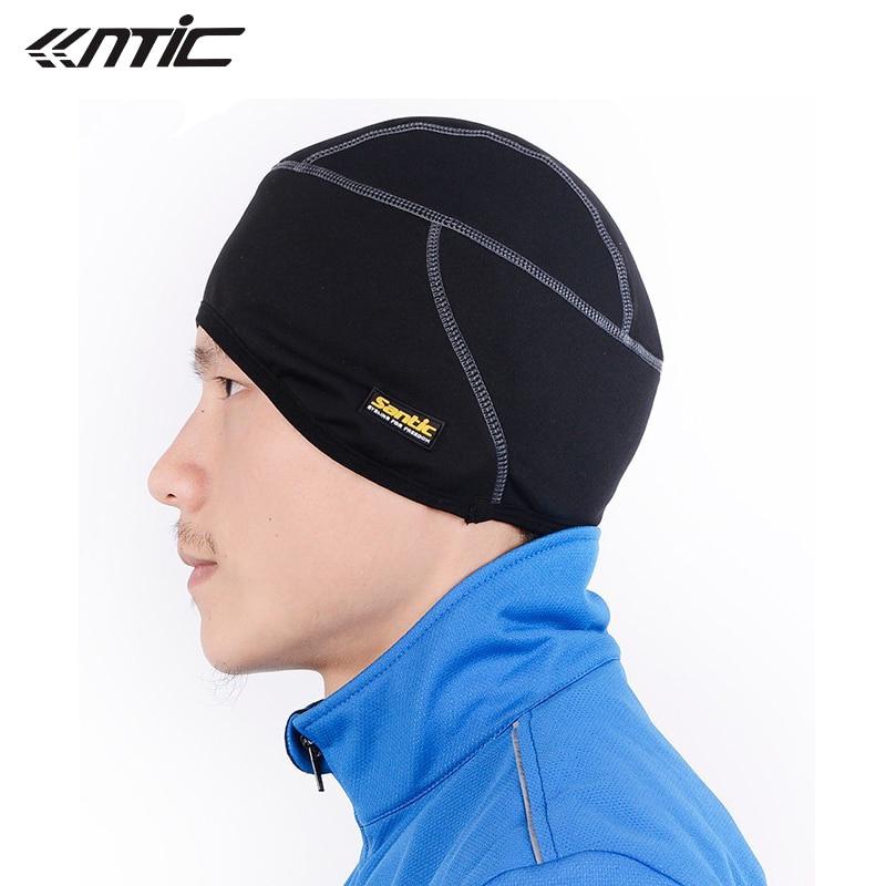SANTIC Fleece Thermal Winter Outdoor Sports Hiking Skiing Hat Bike Bicycle Cycling Helmet Headband Liner Windproof Cap C09005
