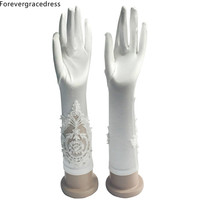 Forevergracedress Romantic White Ivory Bridal Gloves For Wedding Bride Cheap Accessories ST02