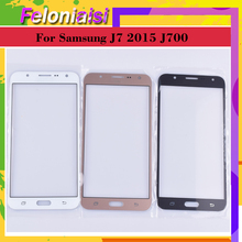 10Pcs/lot For Samsung Galaxy J7 2015 J700 SM-J700F J700H J700M J700H/DS Touch Screen Front Glass Panel TouchScreen LCD Outer цена 2017