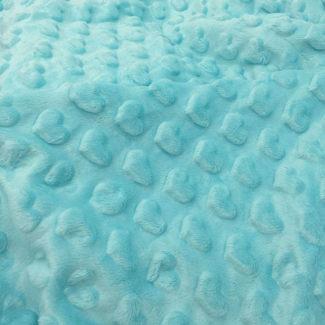 New Arrival Super Soft Minky heart Embossed Fabric For Newborn Holds 6 colors in stock Sold By Meter Free Shipping
