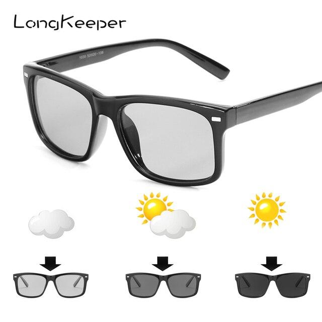 0ce83b678d LongKeeper 2018 Men Polarized Discoloration Sunglasses Women Photochromic  Driving UV400 Sun Glasses Chameleon Brand Design 1030