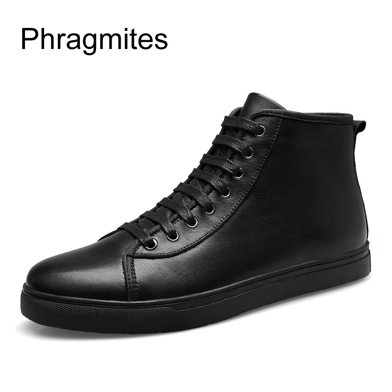 Phragmites Ankle Boots For Women Big Size Women Shoes Fashion All match Black Unisex Winter Boots