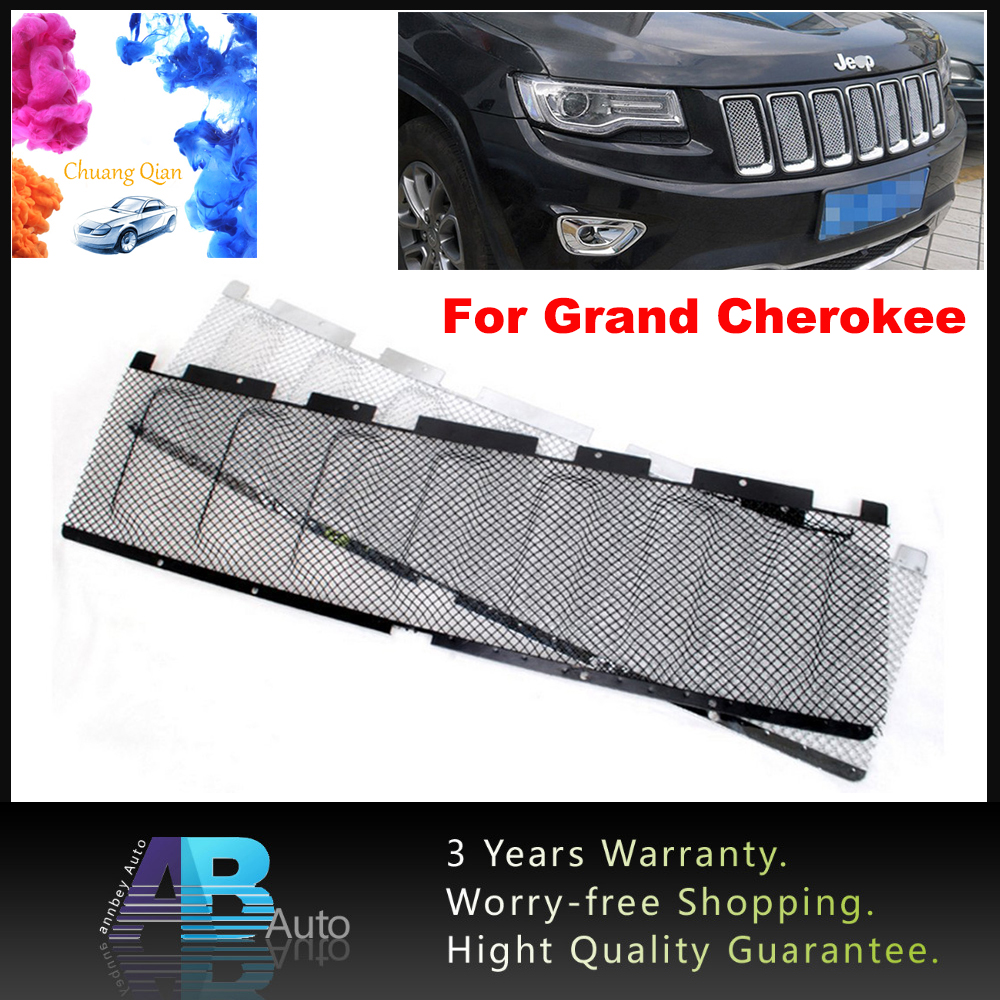 One X Metal 3D Mesh Front Bug Grille Mesh Grill Insert For Jeep Grand Cherokee 2011-2013 Auto Car Accessories Black/Silver front car bumper mesh grille for 2014 chery tiggo 5 car front mesh grill