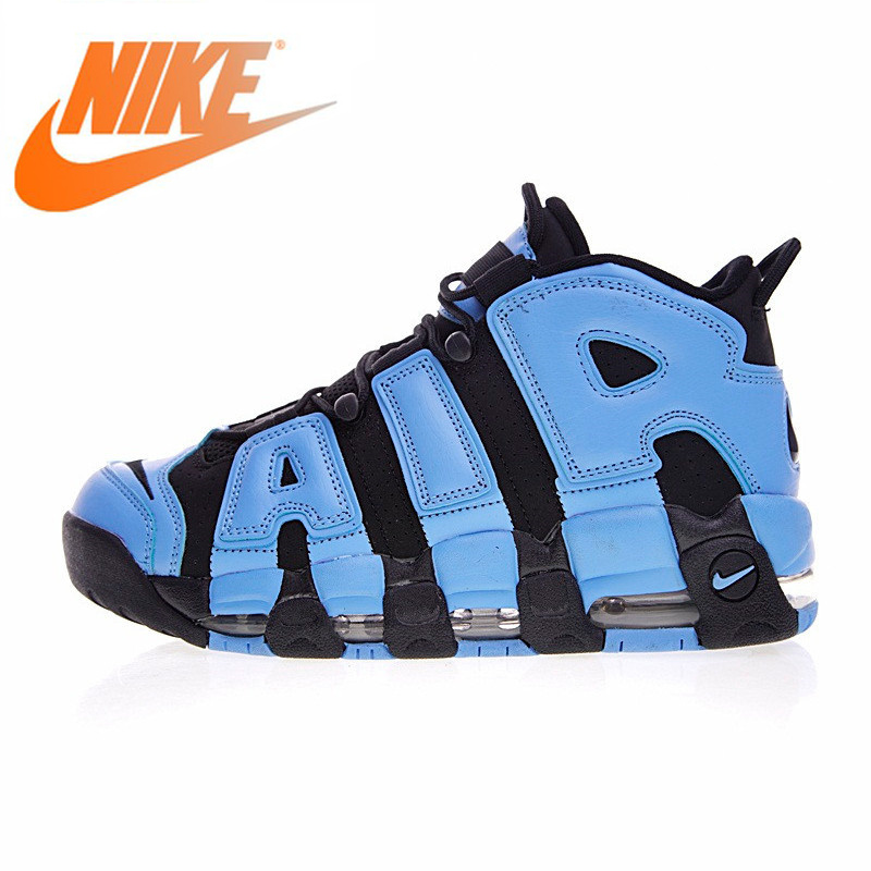 Original Authentic Nike Air Men Basketball Shoes Pippen Big Obsidian Blue Quickly Vents Perspiration Sneakers New 921948 061
