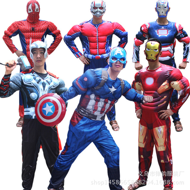 halloween party cosplay clothes adult iron man muscle costume ironman superhero movie costumes christmas gift - Christmas Movie Costumes
