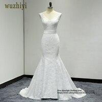 Wuzhiyi Robe De Mariage Mermaid Wedding Gowns Custom Made Bridal Dress Lace Up Plus Size Wedding