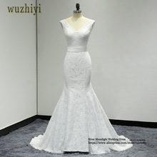 wuzhiyi Robe De Mariage Mermaid Wedding gowns Custom made Bridal dress Lace up Plus size wedding dress 2017 Vestide de Novias