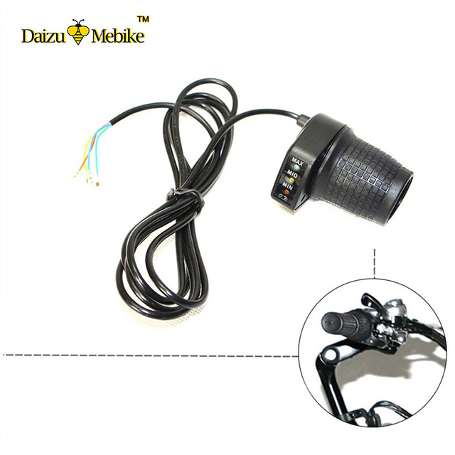 Ebike Throttle With LED Indicator Electric Bike Twist Throttle Motor Mountain Bicycle Derailleur 210cm Wire Handle_640x640 aliexpress com buy ebike throttle with led indicator electric e bike throttle wiring diagram at n-0.co