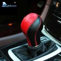 Airspeed pommeau de levier de vitesse en cuir poignée en cuir de vachette housse cousue main pour Infiniti QX50 QX70 QX80 EX FX35 37 G37 accessoires d'intérieur