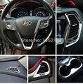 Auto interior moulding, inner air vent door handle trim for hyundai ix45 sante for 2013, ABS chrome,auto accessories