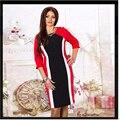 Alta calidad mujeres del o-cuello del vestido 2015 de la nueva llegada de ohyeah vestidos de verano de moda de trabajo señora dress Vestidos Femininos 16335