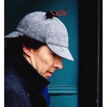 Vintage Sherlock Holmes Beret kapelusz kostium Retro Earflaps detektyw kapelusz dla mężczyzn kobiety Deerstalker gazeciarz płaska czapka Boinas Hombre tanie tanio Liva girl Mężczyźni Polyester COTTON Dorosłych beret cap Stałe Na co dzień Berety beret homme newsboy cap