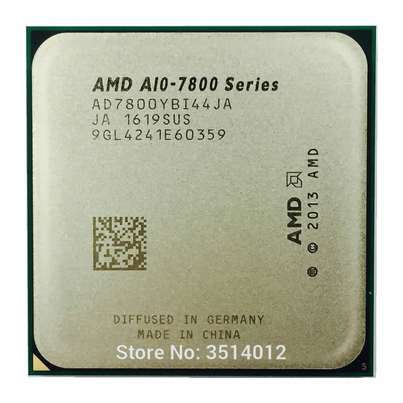 AMD A10 Series A10 7800 A10 7800 3 5GHz Quad Core CPU Processor AD7800YBI44JA AD780BYBI44JA Socket