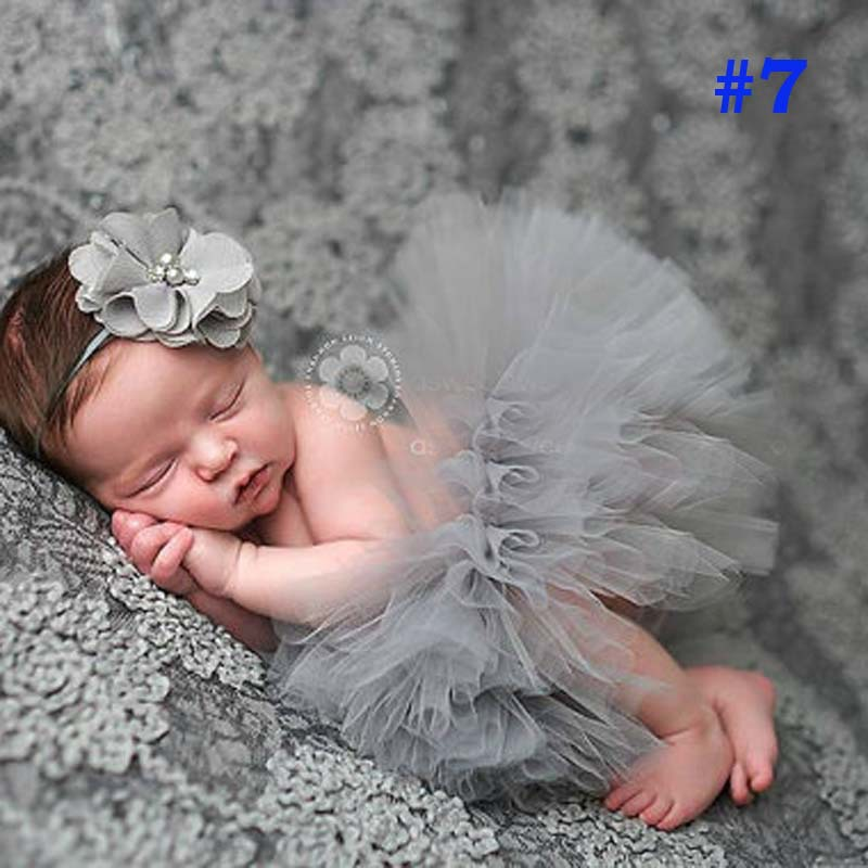 Pretty pink princess newborn tutus baby tutu skirt with vintage headband newborn photography prop birthday gift ts019 in skirts from mother kids on