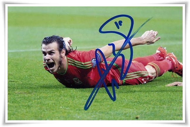 3e50513499a Gareth Bale autographed signed with pen photo 4 6 inches sports star  freeshipping 07.2016 01