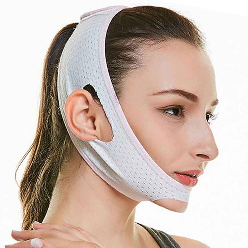 1Pcs V Line Facial Mask Chin Neck Belt Sheet Anti Aging Face Lift Up Chin Cheek Slim Lift Up Anti Wrinkle Mask 2