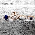 Для женщин 4 шт. Винтаж имитация камня палец кольцо под старину цвета: золотистый, серебристый выдалбливают чешские миди кольцо женских украшений - фото