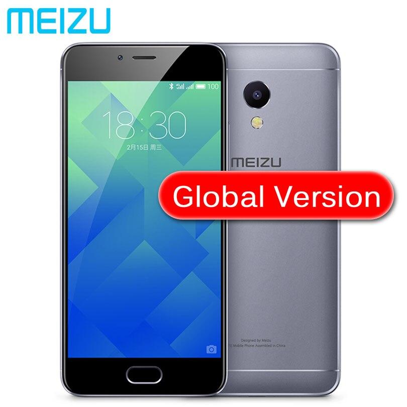 Оригинал Meizu M5S MTK6753 глобальной версии 3 ГБ Оперативная память 16 ГБ 32 ГБ Встроенная память сотовый телефон 5.2 дюймов Octa- core быстрой зарядки мобильного телефона