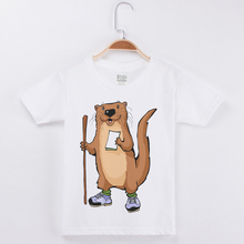 New Boy T-Shirt Brand Funny Cartoon Animal Mouse Printed T Shirt Children Kids shirts Short Sleeved Cotton Child Clothes Tee