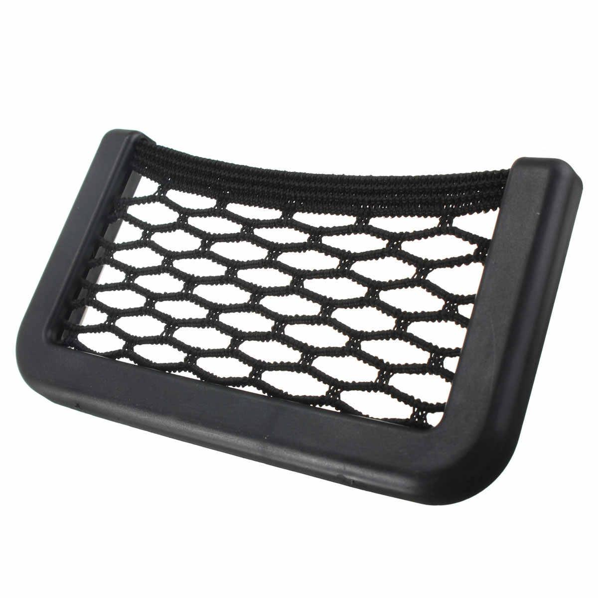 Universal de 20*8cm 15*8cm multifunción titular del teléfono del coche de almacenamiento de cuerda elástica Auto vehículo de almacenamiento de bolsa de malla de las redes para iPhone