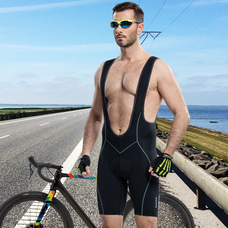 Santic Cycle Bib Shorts 4D Cushion Padding Cycling Bottom Bib Shorts Men s Cycling Clothes Summer
