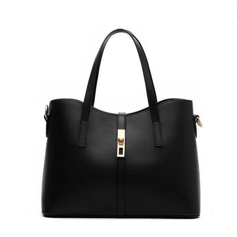 2017 Hot Sale Women's Composite Bags Zipper Soft Brand Women Shoulder Bag Handbag Medium Big Female Crossbody Bags For 3 Sets
