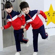 369e4ba2a9c39 Conjunto de ropa para niños adolescentes ropa escolar uniforme niño traje  deportivo Niño chaqueta + pantalones para Deporte Niña.
