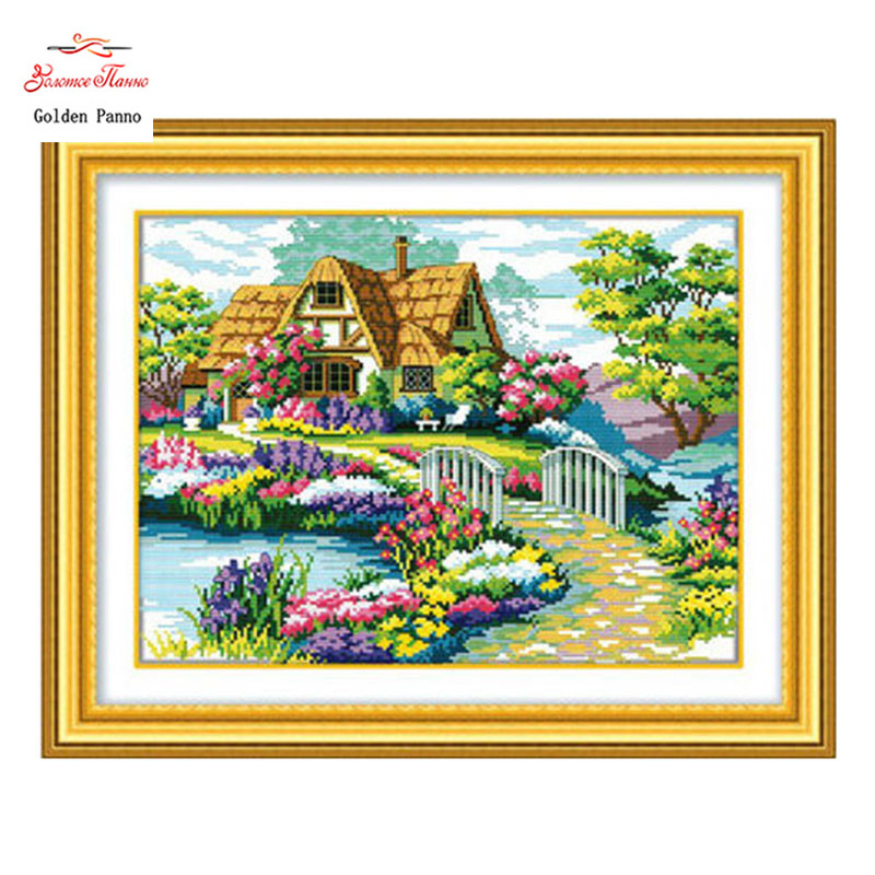 Aliexpress buy golden panno needlework embroidery