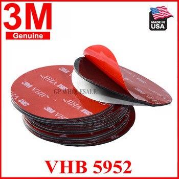 Dimater = 50mm, 1,1mm de grosor, Redondo 3M VHB 5952 cinta adhesiva de espuma acrílica de doble cara resistente negro
