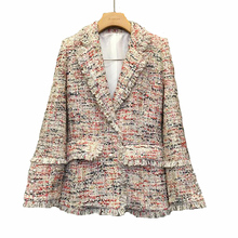 2019 Spring New Women Coat Was Thin Color Plaid Small Suit Jacket Female Temperament Retro Check Pattern Chic Suit Tide