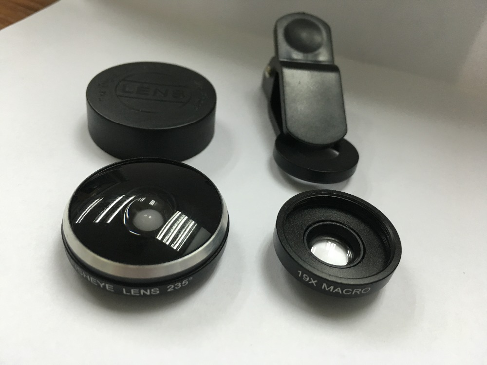 Orbart 235 derajat supre fisheye 19x makro 2 in 1 lensa telepon untuk - Aksesori dan suku cadang ponsel - Foto 4