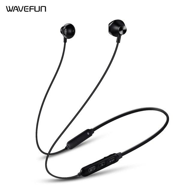 Wavefun Flex 2 Wireless Headphone Bluetooth 5.0 Earphone 150mAh Battery IPX5 Waterproof for xiaomi iPhone Sport Headset with Mic