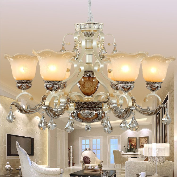 Aliexpress Buy 2015 New Arrival Hot Luxurious European Style 8 Arms Chandelier Living Room Luxury Lamp Lustres De Chandeliers From Reliable