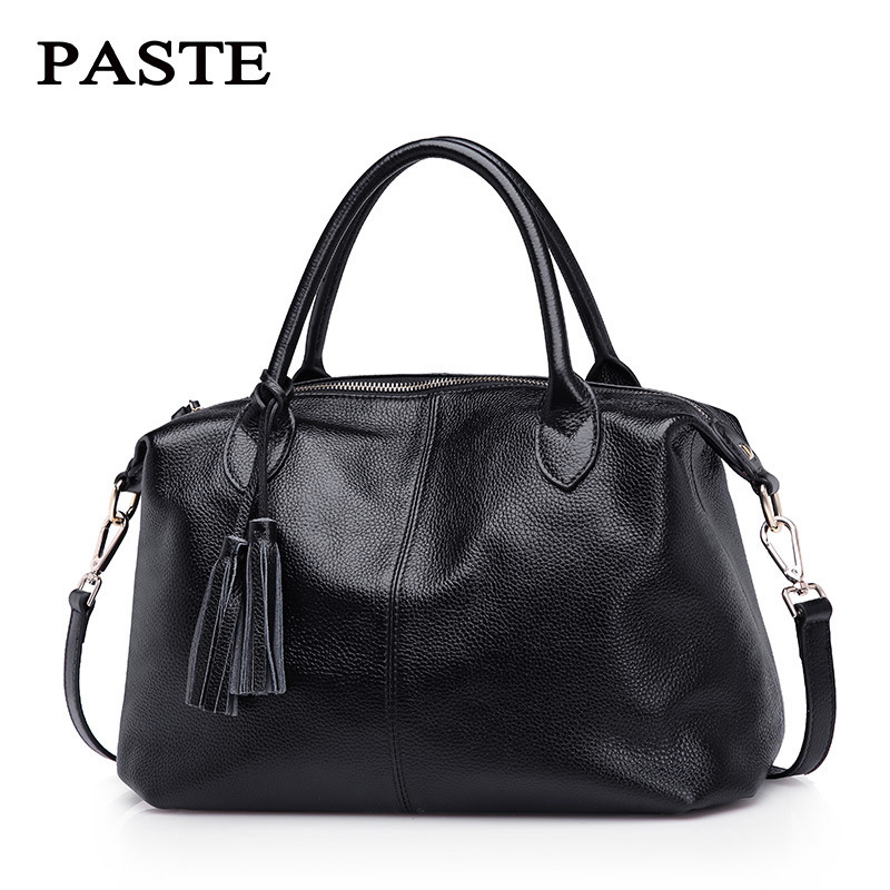 100 Nature Cow Genuine Leather Women s Handbags Tote First Layer For Female Messenger Bags Satchel