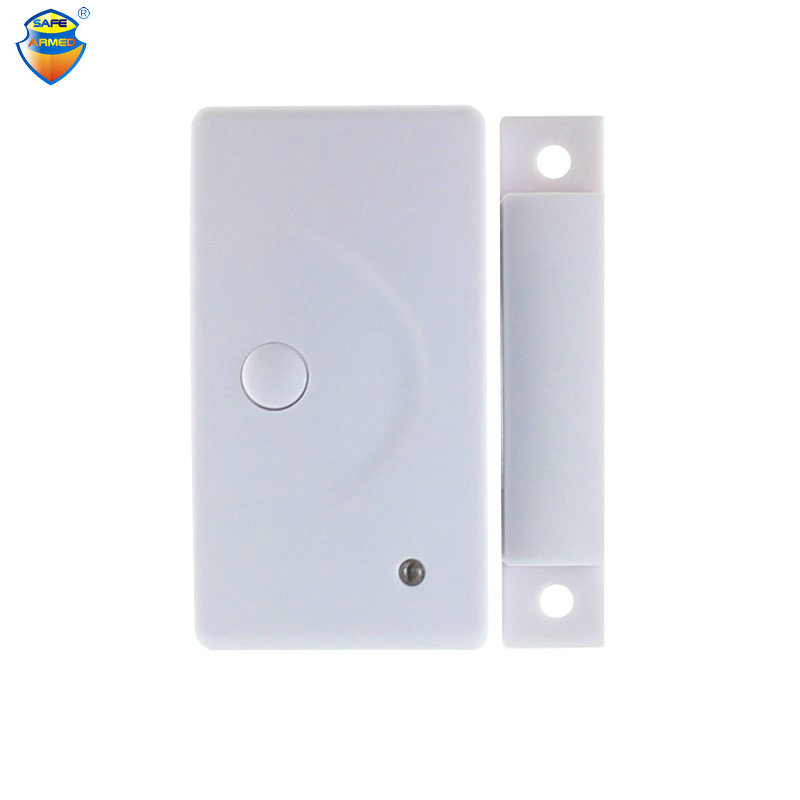 (10 PCS) Wireless Window/Door Sensor Magnetic Contact,433MHZ PT2262 or EV1527 Magnet Senser Door Contact Anti-theft Alarm System wireless window door sensor magnetic contact w emergency button 433mhz ev1527 pt2262 door window detector anti thief home alarm