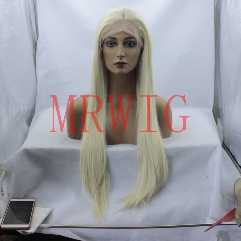 MRWIG real hair picture 26inch middle part 150%density long straight glueless front lace wig swiss lace for black woman stock