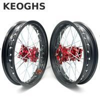 Keoghs Dirt Bike Wheel Rims Cnc Hubs Front And Rear Wheels 1.85 2.5 14 Inch For Pit Bike Motocross Ktm Crf Kawasaki Honda Cqr