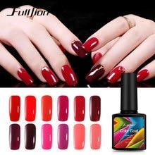 Fulljion 1Pcs Gel Nail Varnish Wine Red Series Polish Lacquer Long Lasting For Nails Art Lacquer Beauty Soak off Gel Polish