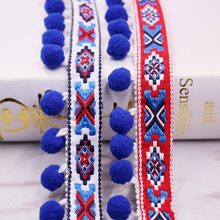10yards DIY accessories tassel Small hair ball cotton bohemian trimming fringes for sewing clothes Curtains decoration