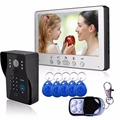 "7"" Color Video Door Phone Video Intercom Door Intercom Doorphone IR Night Vision Camera Doorbell Kit for Apartment"