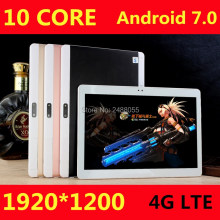 Envío Libre de DHL Android 7.0 10 pulgadas tablet pc deca core 4 GB RAM 64 GB ROM 10 Núcleos 1920*1200 MID Tablets IPS Embroma el Regalo 10.1 10