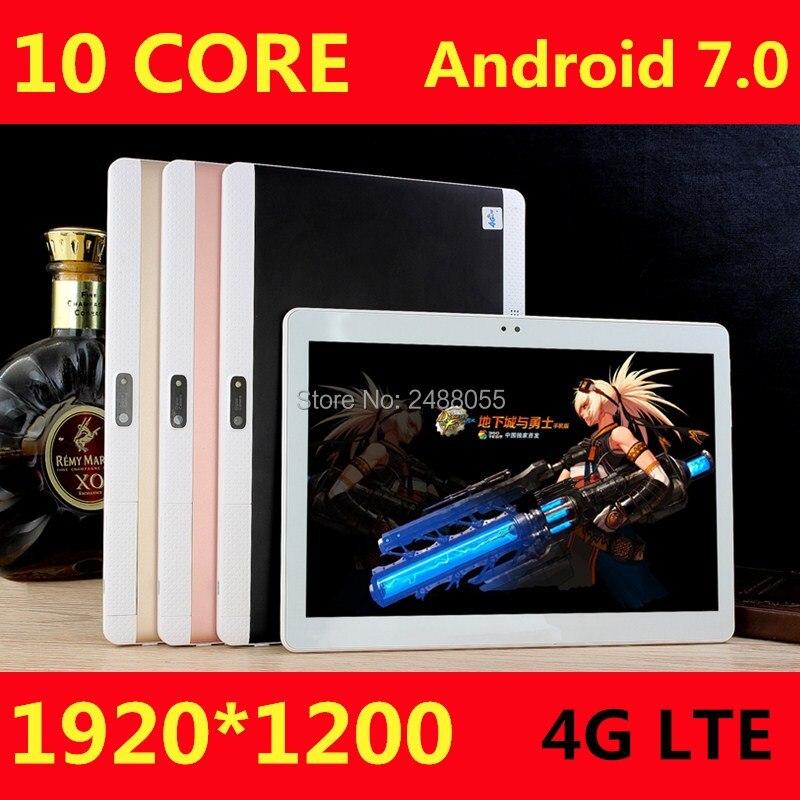 DHL Livraison Gratuite Android 7.0 10 pouce tablet pc deca core 4 GB RAM 64 GB ROM 10 Noyaux 1920*1200 IPS Enfants Cadeau MID Comprimés 10.1 10