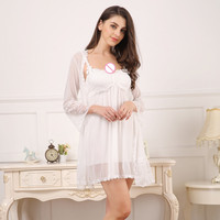 Two Set 2018 New Style Fashion Women Sexy Lace Low Out Underwear Babydoll Sleepwear Intimate Full Slips 4 Color M XL