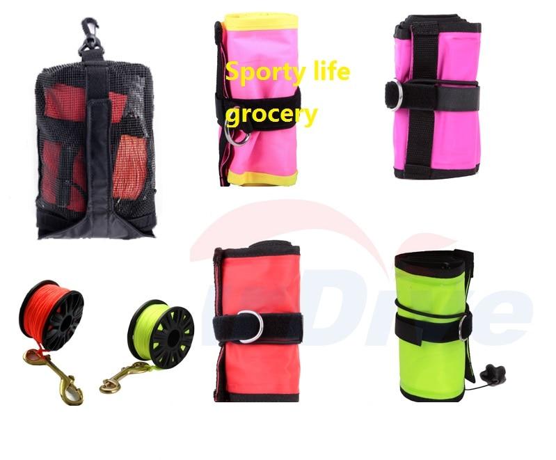цена на SCUBA dive inflate float SMB set + Diving Finger Spool +Bag 11 options surface maker buoy kit