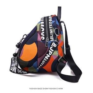 Image 2 - حقيبة ظهر نسائية جديدة متعددة الوظائف مقاومة للمياه أكسفورد حقيبة ظهر نسائية ضد السرقة حقيبة مدرسية للبنات 2019 كيس دوس موتشيلا