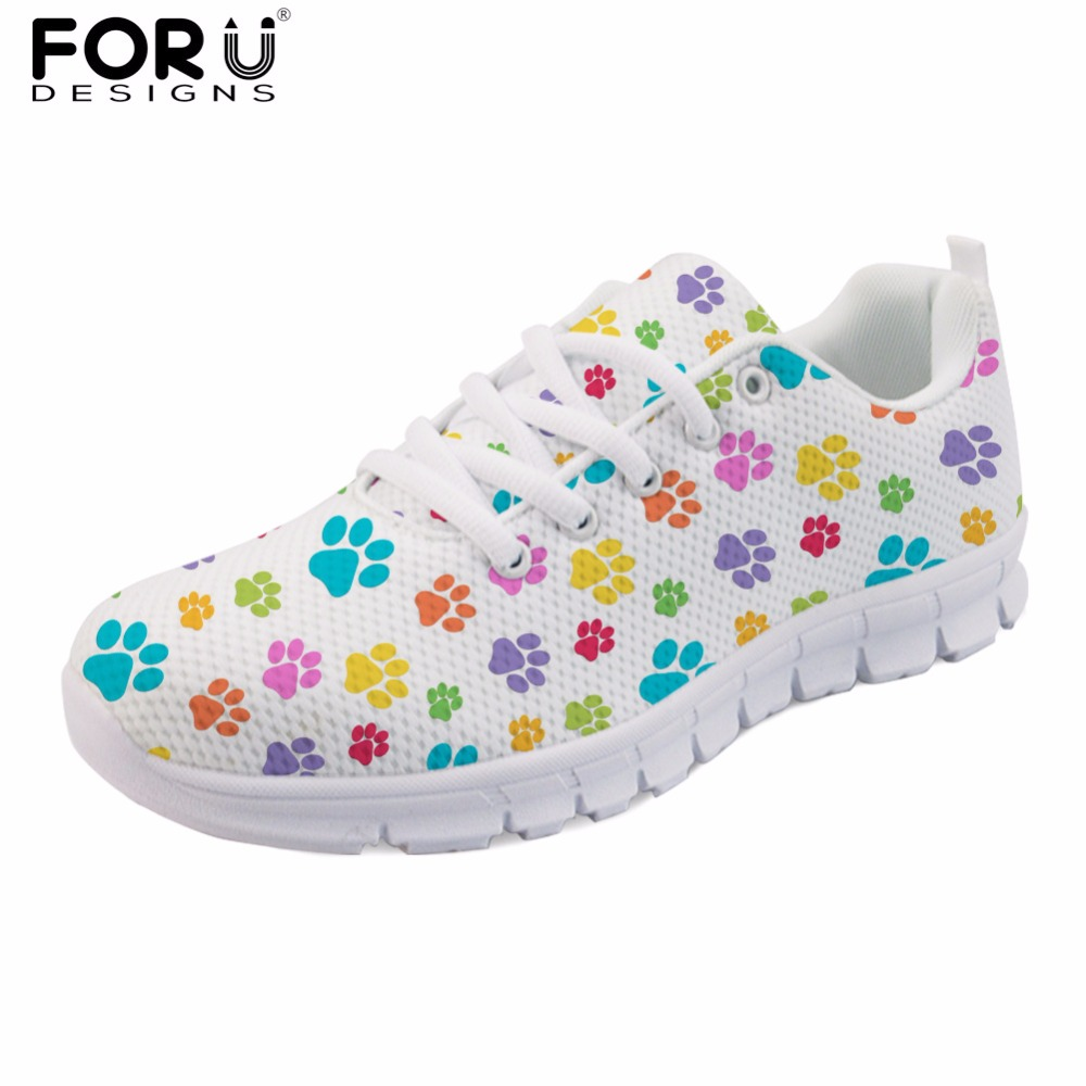 FORUDESIGNS Flats Shoes Women Cute Footprint Women Casual Brand Breathable Shoes Zapatos Mujer Spring Lightweight Shoes Woman 2016 hot sale fashion women walking shoes summer lightweight breathable women casual shoes flats zapatos mujer trainers r013